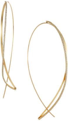 Lana Diamond Twist Upside-Down Hoop Earrings