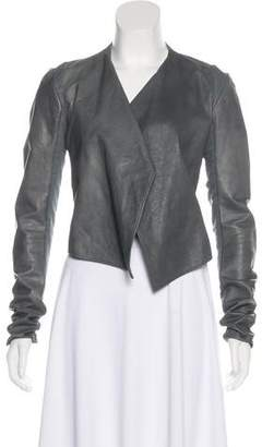 Urban Zen Asymmetrical Leather Jacket