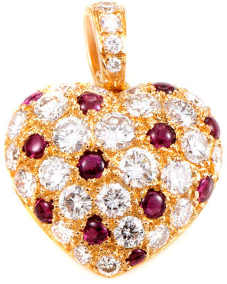 Cartier Heritage  18K 2.30 Ct. Tw. Diamond & Ruby Heart Enhancer