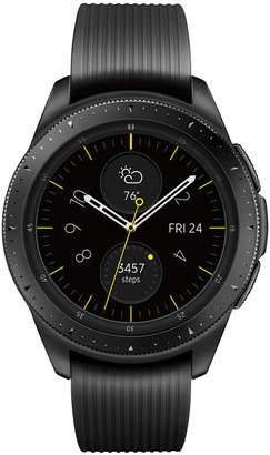 Samsung Unisex Galaxy Bluetooth Onyx Black Silicone Strap Smart Watch 42mm