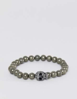 Simon Carter pyrite beaded bracelet with crystals from Swarovski