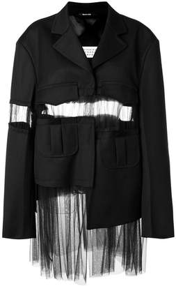 Maison Margiela sheer panel blazer