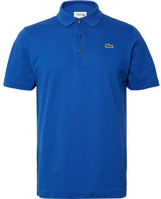 dd5f3ef2c7386 Lacoste Tennis - Novak Djokovic Cotton-pique Polo Shirt - Blue