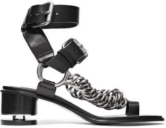 Alexander Wang Jada Chain-embellished Leather Sandals - Black