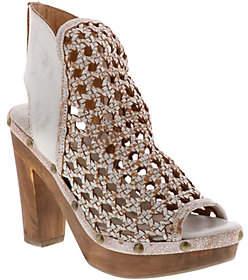 Sbicca Leather Woven Platform Sandals - Kaycee