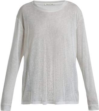 FRANCES DE LOURDES Marlon round-neck cashmere and silk-blend T-shirt