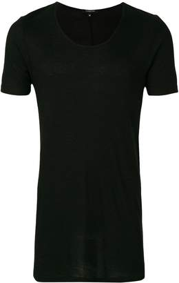 Unconditional ribbed scoop neck T-shirt