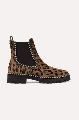 Alexander Wang Spencer Studded Leopard-print Calf Hair Chelsea Boots - Leopard print