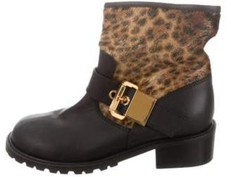 Giuseppe Zanotti Round-Toe Ankle Boots Black Round-Toe Ankle Boots