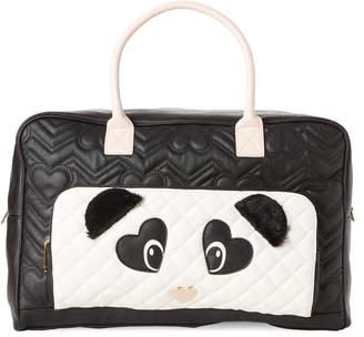 Betsey Johnson Black & Cream Panda Weekender