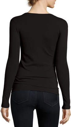 Majestic Long-Sleeve Cashmere Top
