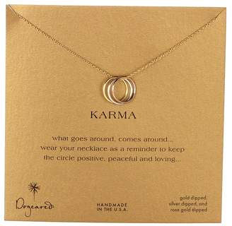 Dogeared Triple Karma Ring Necklace Necklace