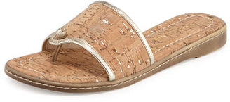 Donald J Pliner Giaa Cork Thong Sandal, Platino $178 thestylecure.com