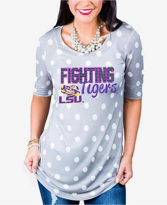 Couture Gameday Women Lsu Tigers Polka Dot T-Shirt