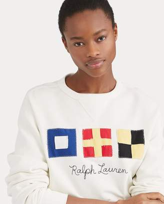 Ralph Lauren Flag Patch Fleece Sweatshirt