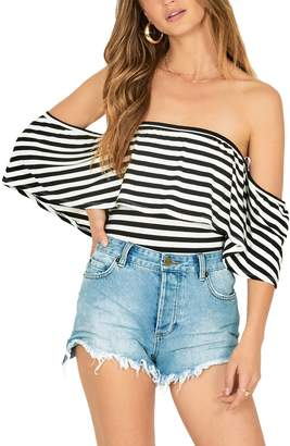 Amuse Society Ruffle My Feathers Off the Shoulder Bodysuit