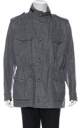 Tom Ford Linen & Wool Hooded Field Jacket