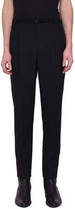 Haider Ackermann Calder Black High Waist Wool Trousers
