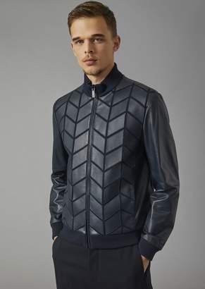Giorgio Armani Lambskin Jacket With Openwork Front