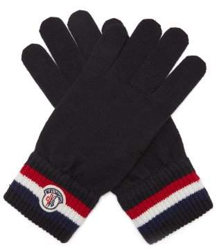 Moncler - Virgin Wool Logo Gloves - Mens - Black