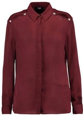 Versace Embellished Chiffon Shirt