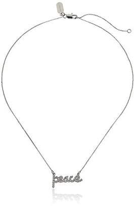 Lisa Freede Jewelry -Plated Peace Script Pendant Necklace