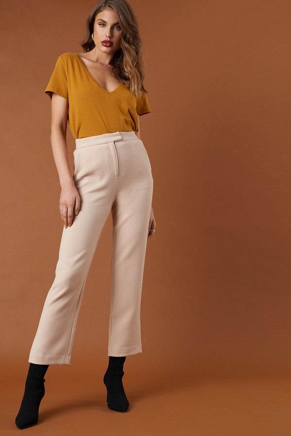 Relaxed Suit Pants Beige