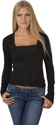 Hollywood Star Fashion Women's V-Neck Full-Sleeve Button Cardigan