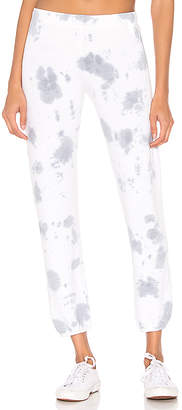 Monrow Elastic Waist Cloud Tie Dye Sweats