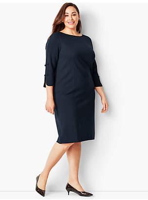 Talbots Bow-Sleeve Refined Ponte Sheath Dress - Solid