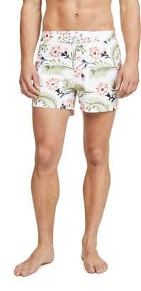 Sundek Floral Swim Shorts with Elastic Waist