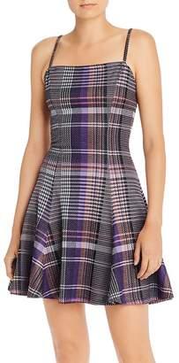 Aqua Plaid Fit-and-Flare Dress - 100% Exclusive