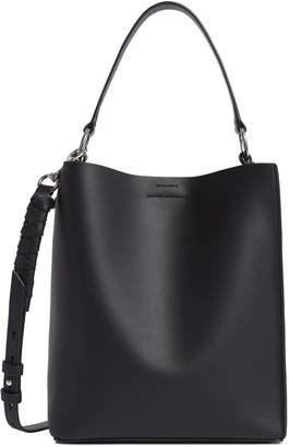 AllSaints Small Voltaire North/South Leather Tote
