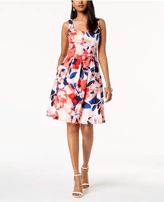 Pappagallo Floral-Print Fit & Flare Dress