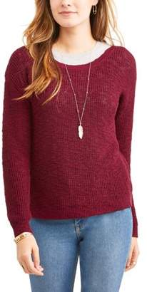 N. Heart Crush \Women's Boat Neck Pullover Sweater