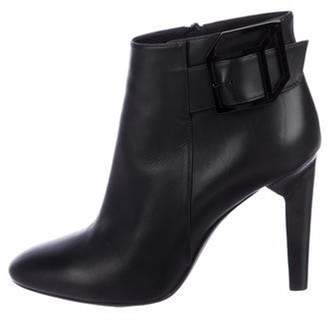 Pierre Hardy Leather round-Toe Ankle Booties Black Leather round-Toe Ankle Booties