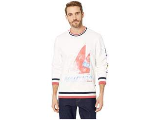Nautica Long Sleeve Crew Neck Sweater