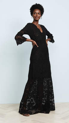 Temptation Positano Caledonia V Neck Long Sleeve Dress