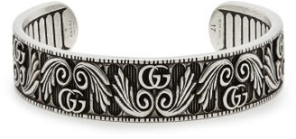 Gucci Gg Marmont Flower Sterling Silver Bracelet - Mens - Silver