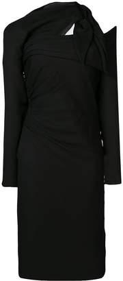 Versace Asymmetric crêpe dress