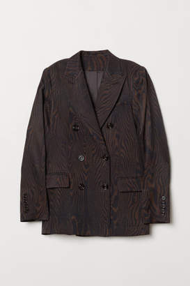 H&M Double-breasted Blazer - Brown