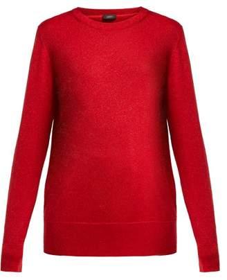 Joseph Metallic Wool Blend Sweater - Womens - Red