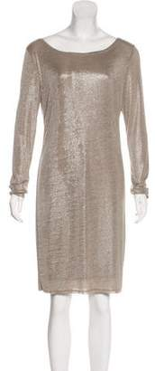 Alice + Olivia Metallic Knee-Length Dress