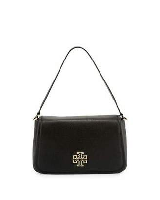 Tory Burch Britten Leather Shoulder Bag, Black $450 thestylecure.com