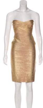 Herve Leger Strapless Bandage Dress