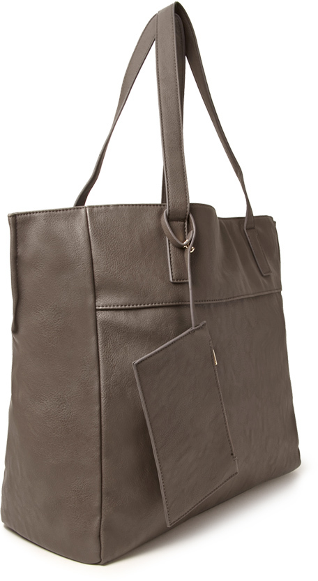 Forever 21 FOREVER 21+ Faux Leather Carry-All