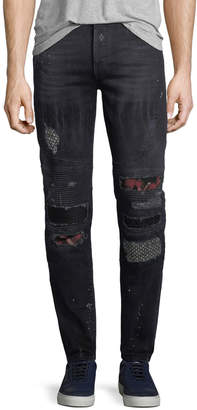 Marcelo Burlon County of Milan Ain Distressed Biker Jeans