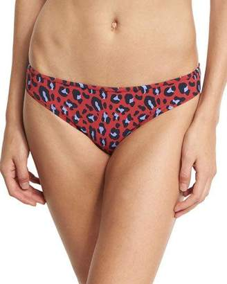Stella McCartney Leopard-Print Classic Bikini Swim Bottom, Red $105 thestylecure.com