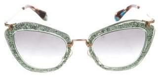 b96d8e64805b Pre-Owned at TheRealReal · Miu Miu Embellished Cat-Eye Sunglasses