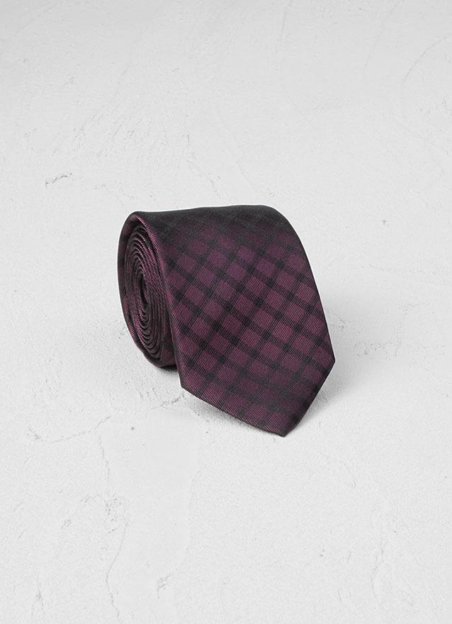 John Varvatos Skinny Tie With Window Pane Detail